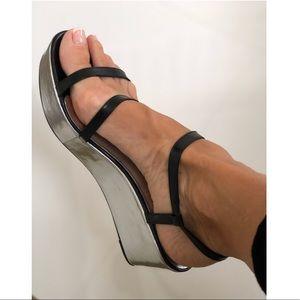 Kate Spade metallic platform sandals